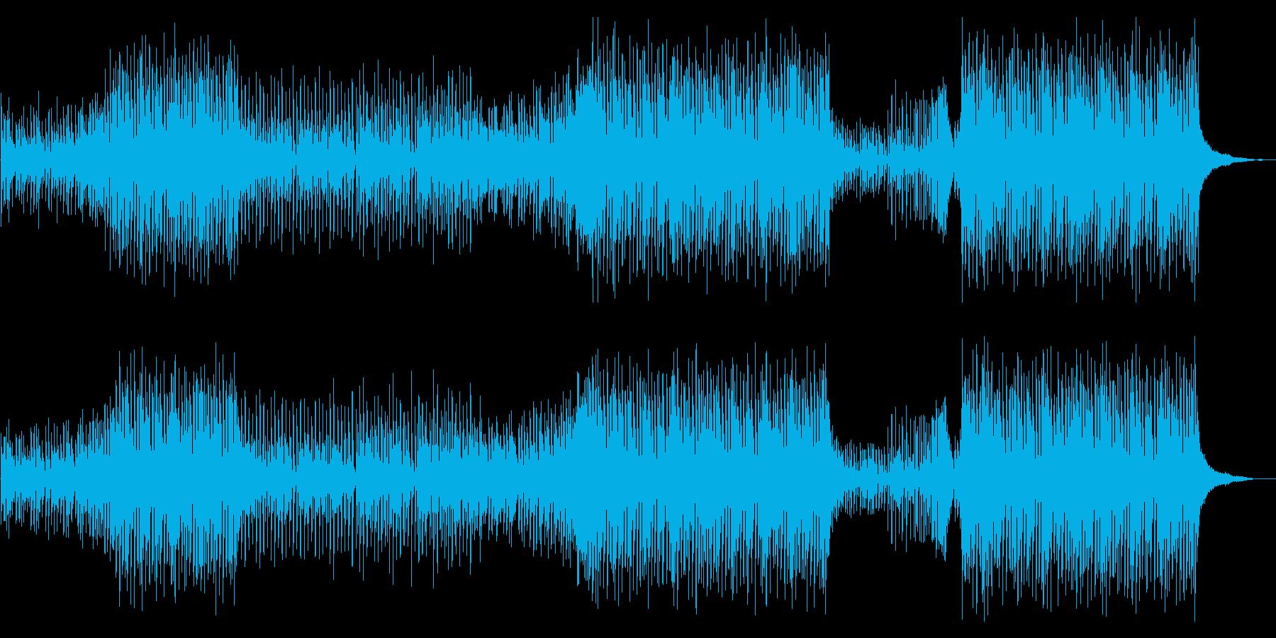切ない夏を思い出すトロピカルハウスの再生済みの波形
