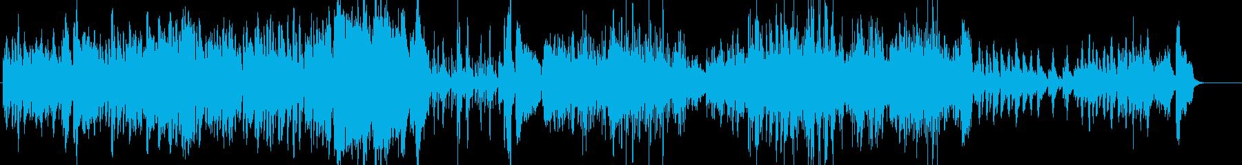 バロック風なチェンバロ曲の再生済みの波形