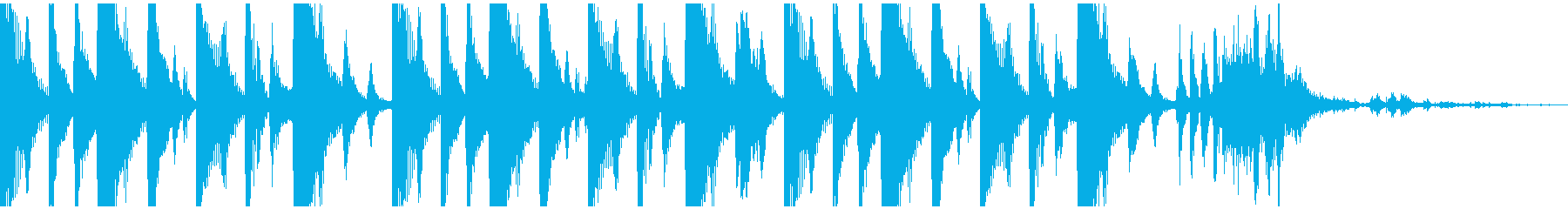 野性的なパーカッションを用いたジングルの再生済みの波形
