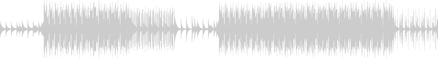 ループ可能・ダークなヒップホップビートの未再生の波形