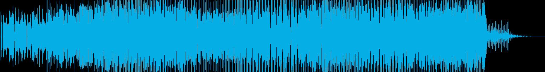 カラフルで弾けるような明るいポップスの再生済みの波形