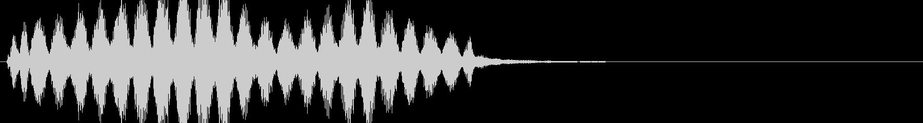 警告・アラート2の未再生の波形