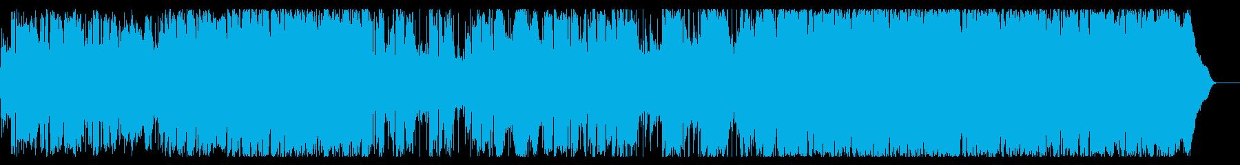 アニメ主題歌のようなテンポの速い曲の再生済みの波形
