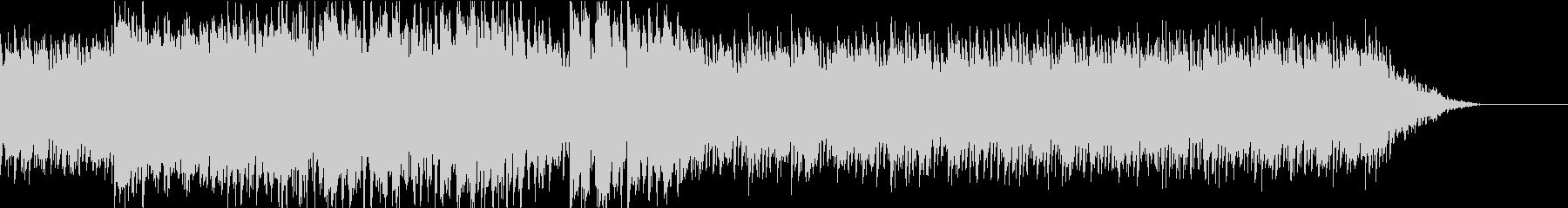 スピード感のある重低音bgmの未再生の波形