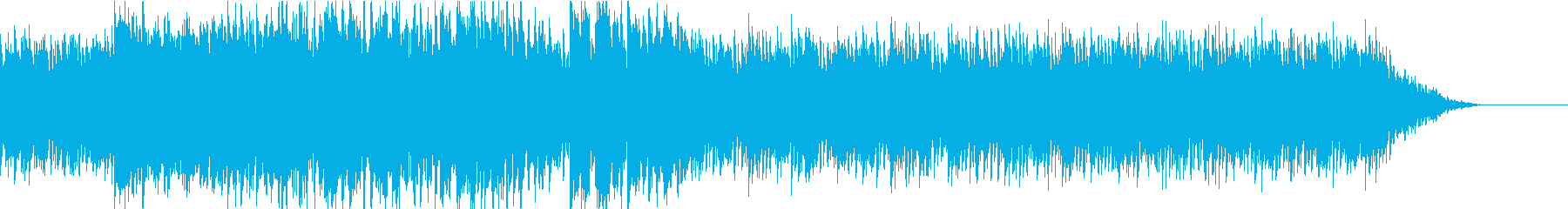 スピード感のある重低音bgmの再生済みの波形
