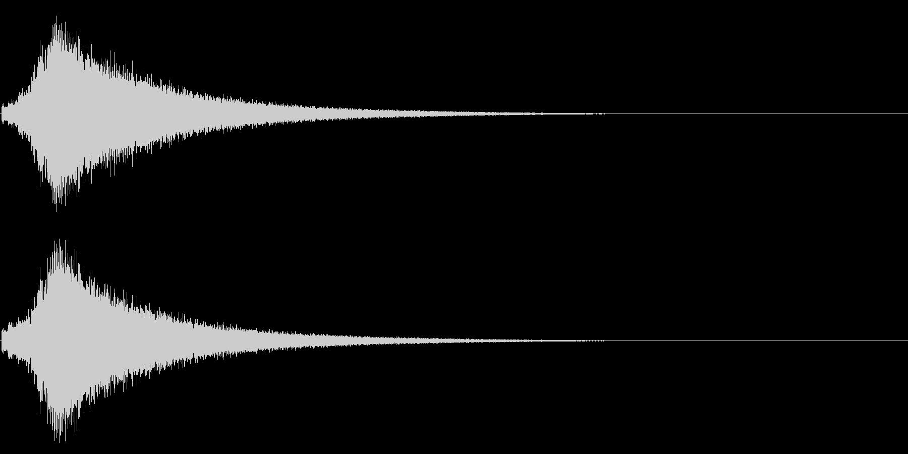 文字が左から右にキラキラ表示(速い)の未再生の波形