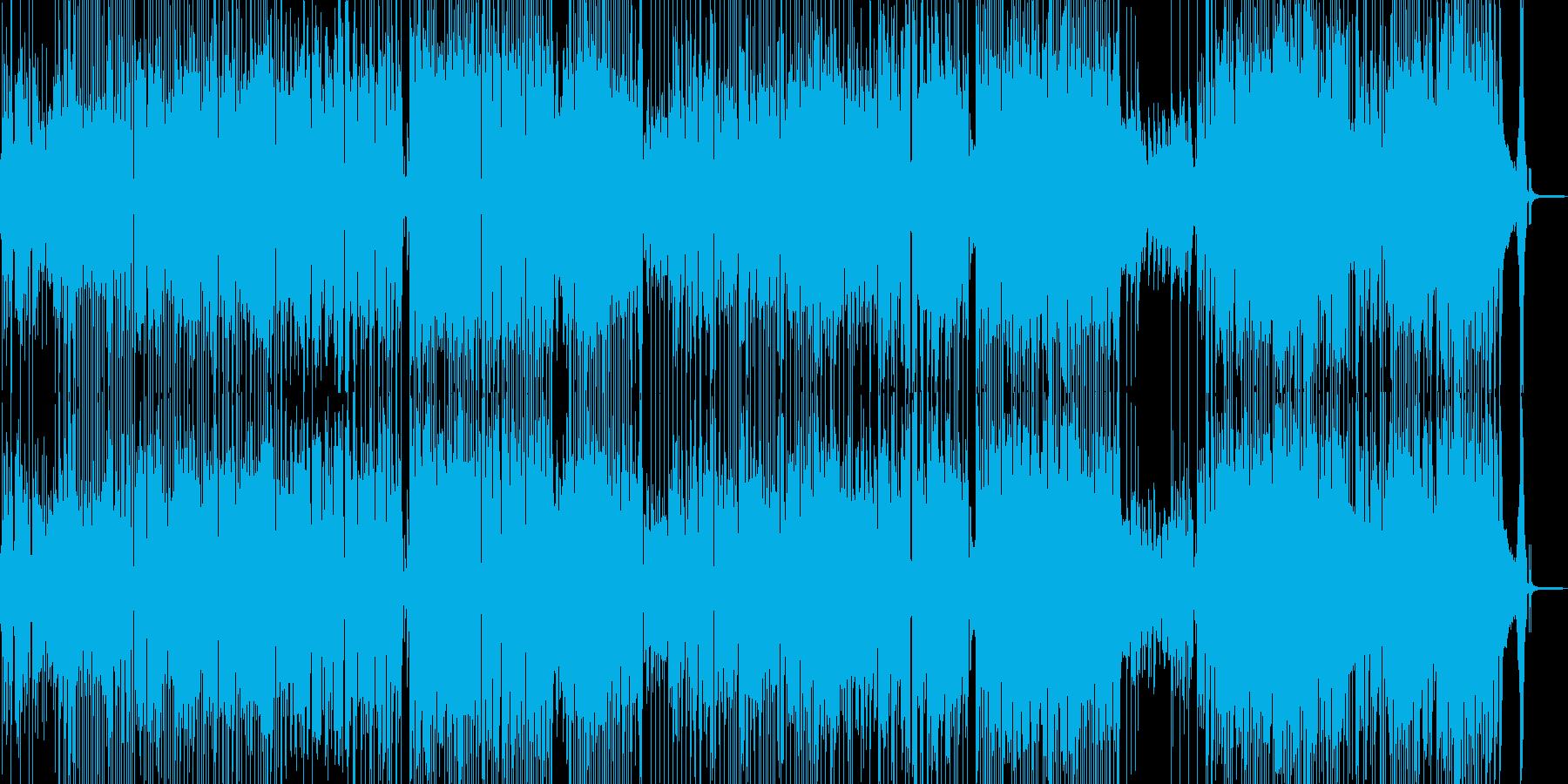気分が晴れ晴れするハッピーなジャズ Aの再生済みの波形