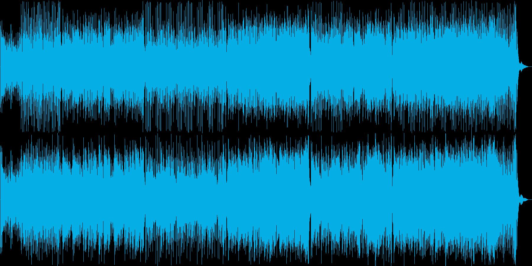 ちょっと怪しい雰囲気の中華風テクノの再生済みの波形