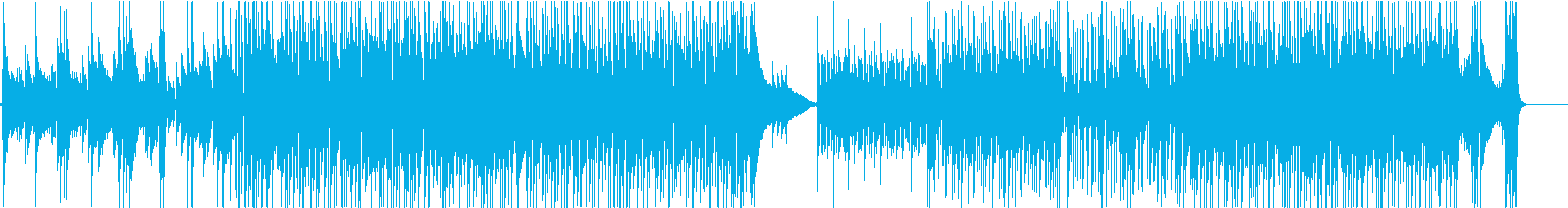 生バンド風のグルービーなジャズファンクの再生済みの波形