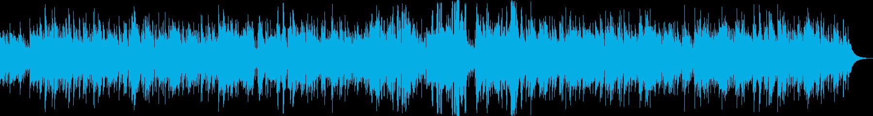 ピアノの優しいモダンジャズの再生済みの波形