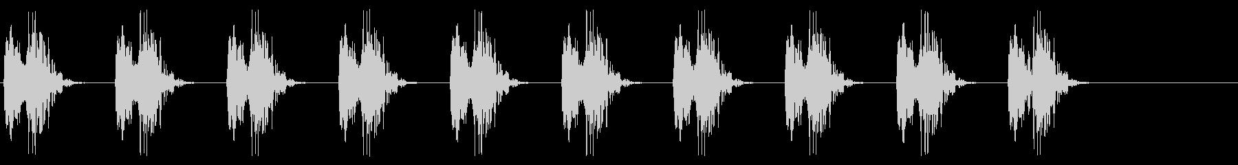心音、心臓の鼓動_1-1の未再生の波形