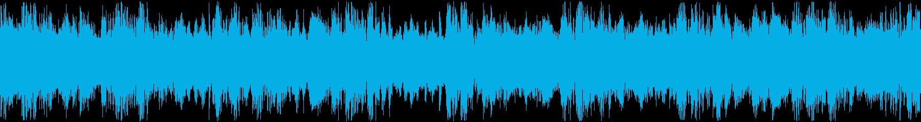 シシネマチックでケルトっぽい曲の短ループの再生済みの波形