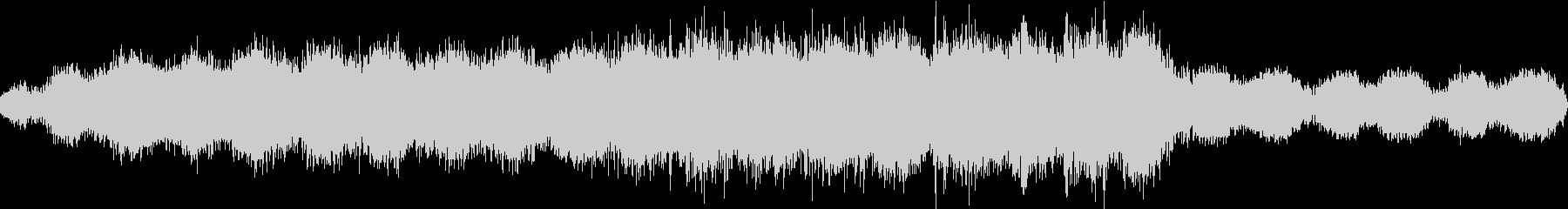 聖歌隊のドローンは、反響的な倍音と...の未再生の波形