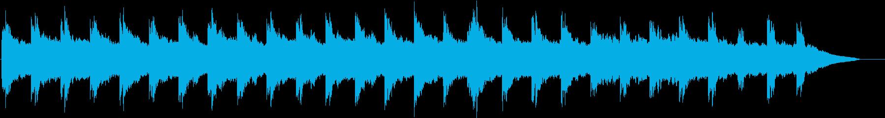 エコーが特徴的なアンビエントの再生済みの波形