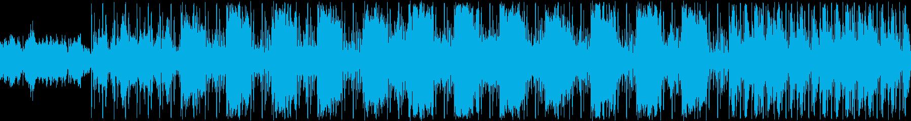 ゆったりとした曲です。BGMです。の再生済みの波形