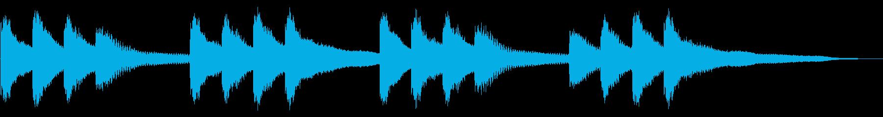 学校のチャイムキーンコーンカーンコーン②の再生済みの波形