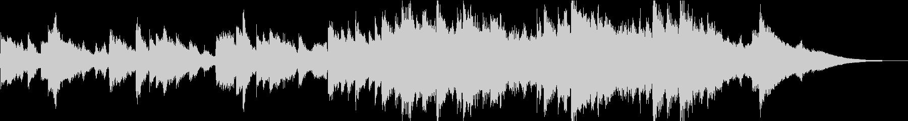優しく包み込むようなピアノストリングスの未再生の波形