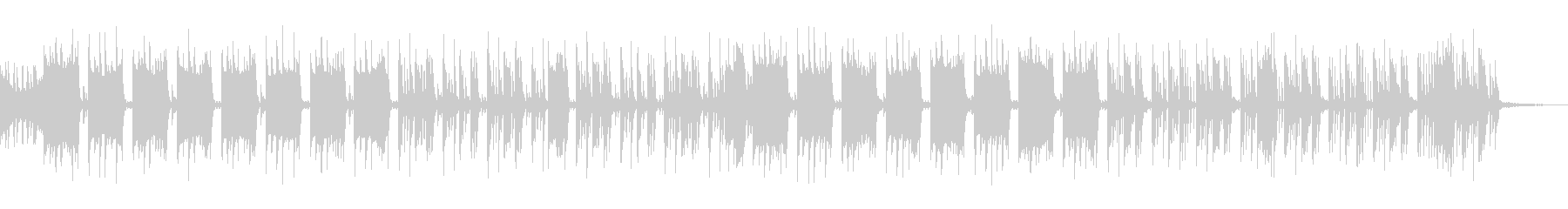 コミカルな曲調のエレクトロニックの未再生の波形