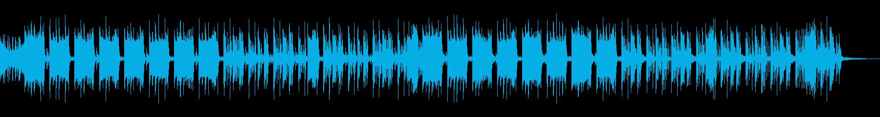 コミカルな曲調のエレクトロニックの再生済みの波形