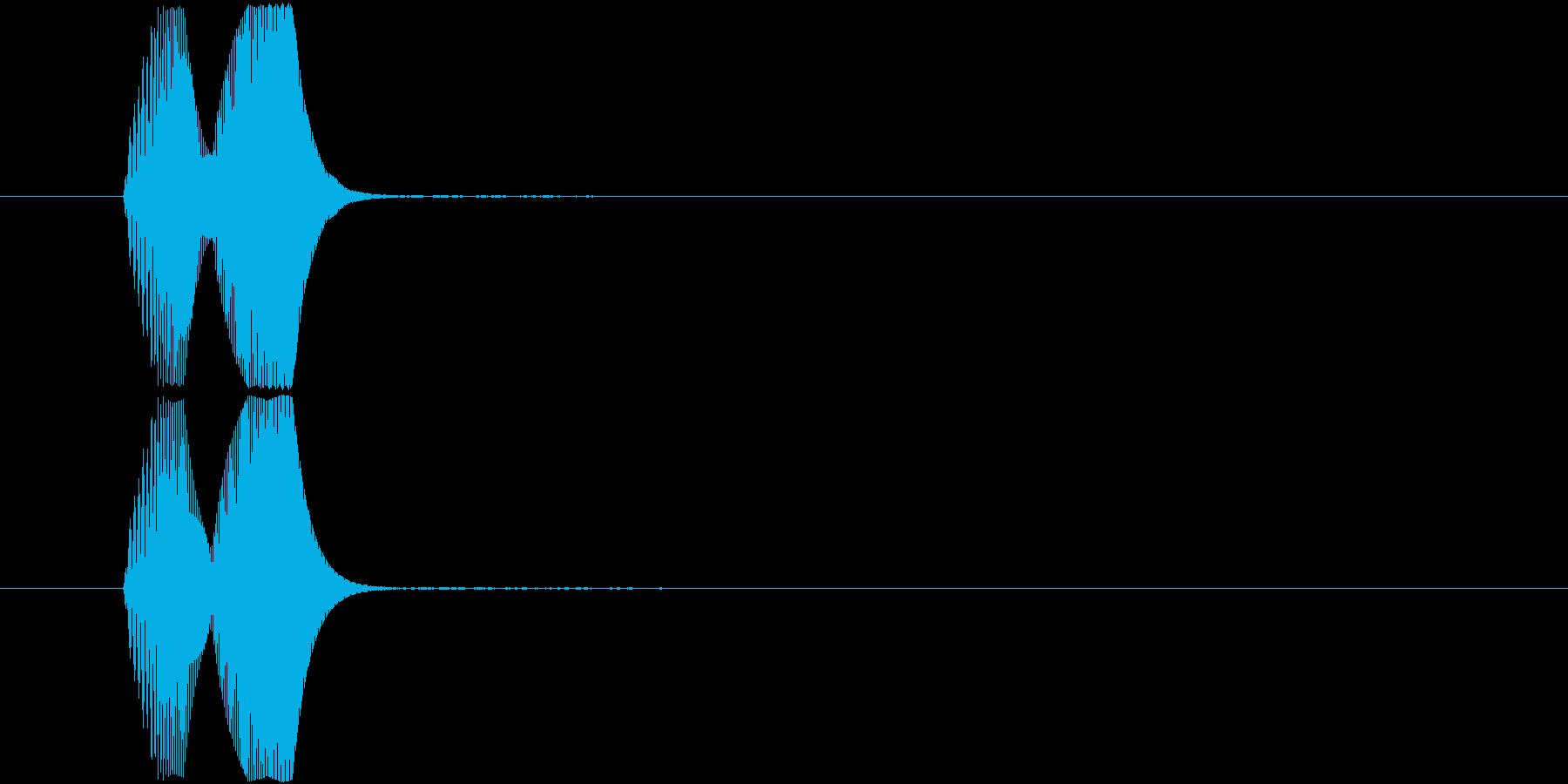ヒョコ(ふきだし・現れる・ワンポイント)の再生済みの波形