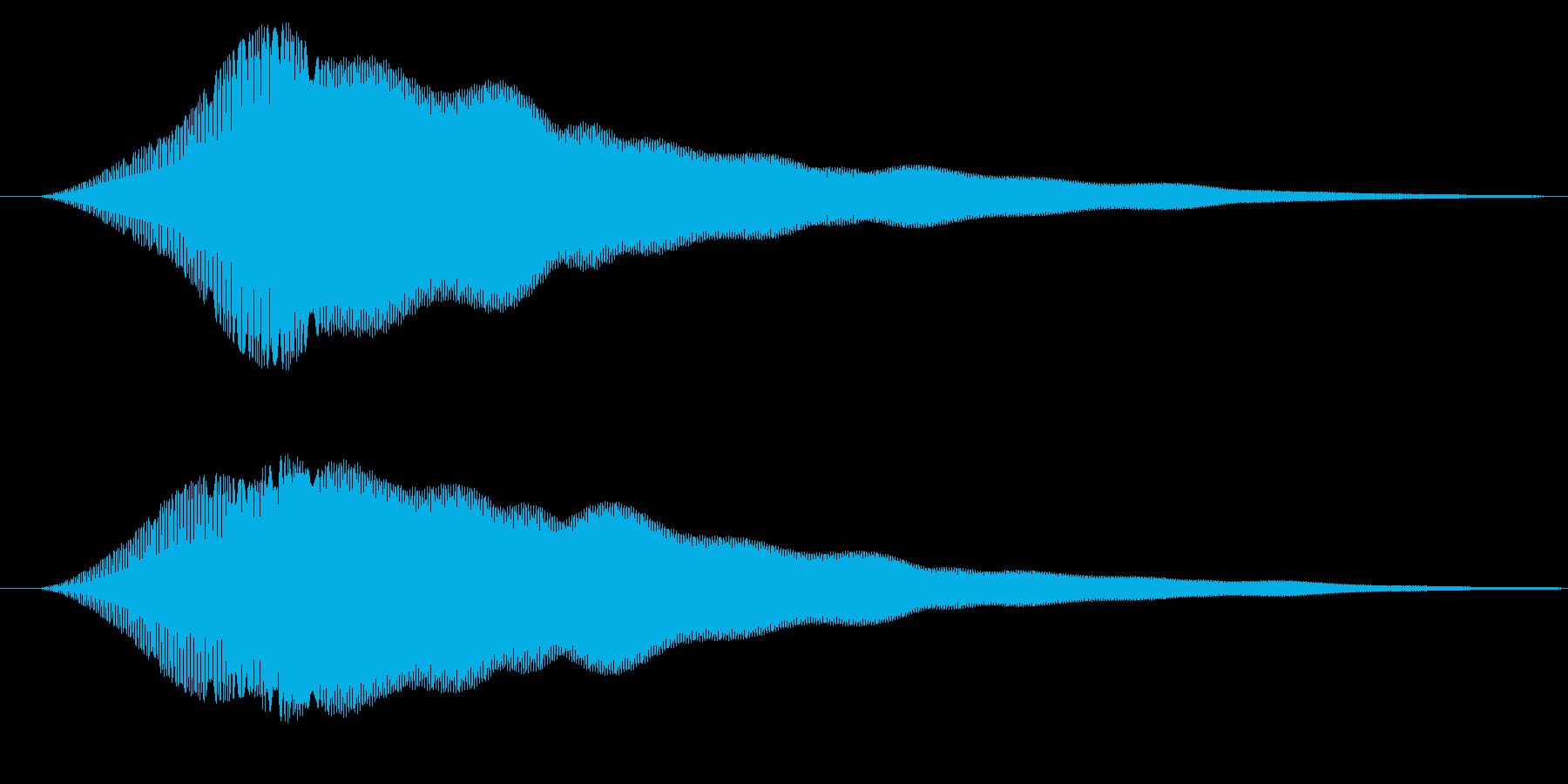 お知らせ/通知/キュイン↑の再生済みの波形