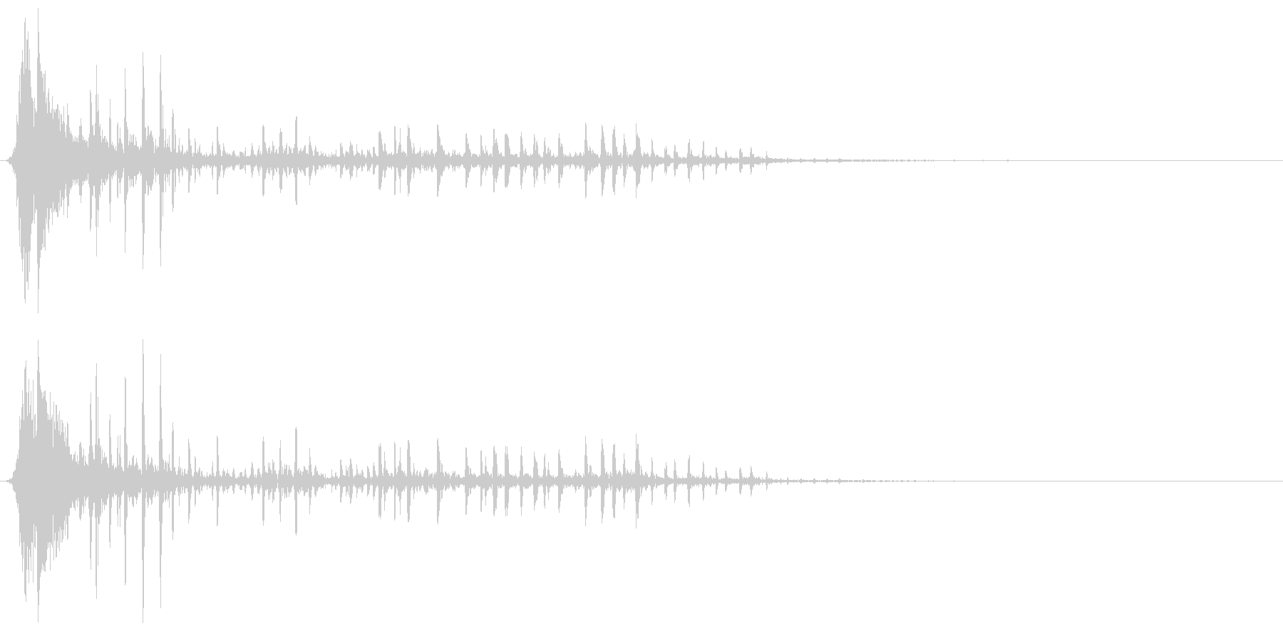弓矢がターゲットに当たり、ぐらつくの未再生の波形