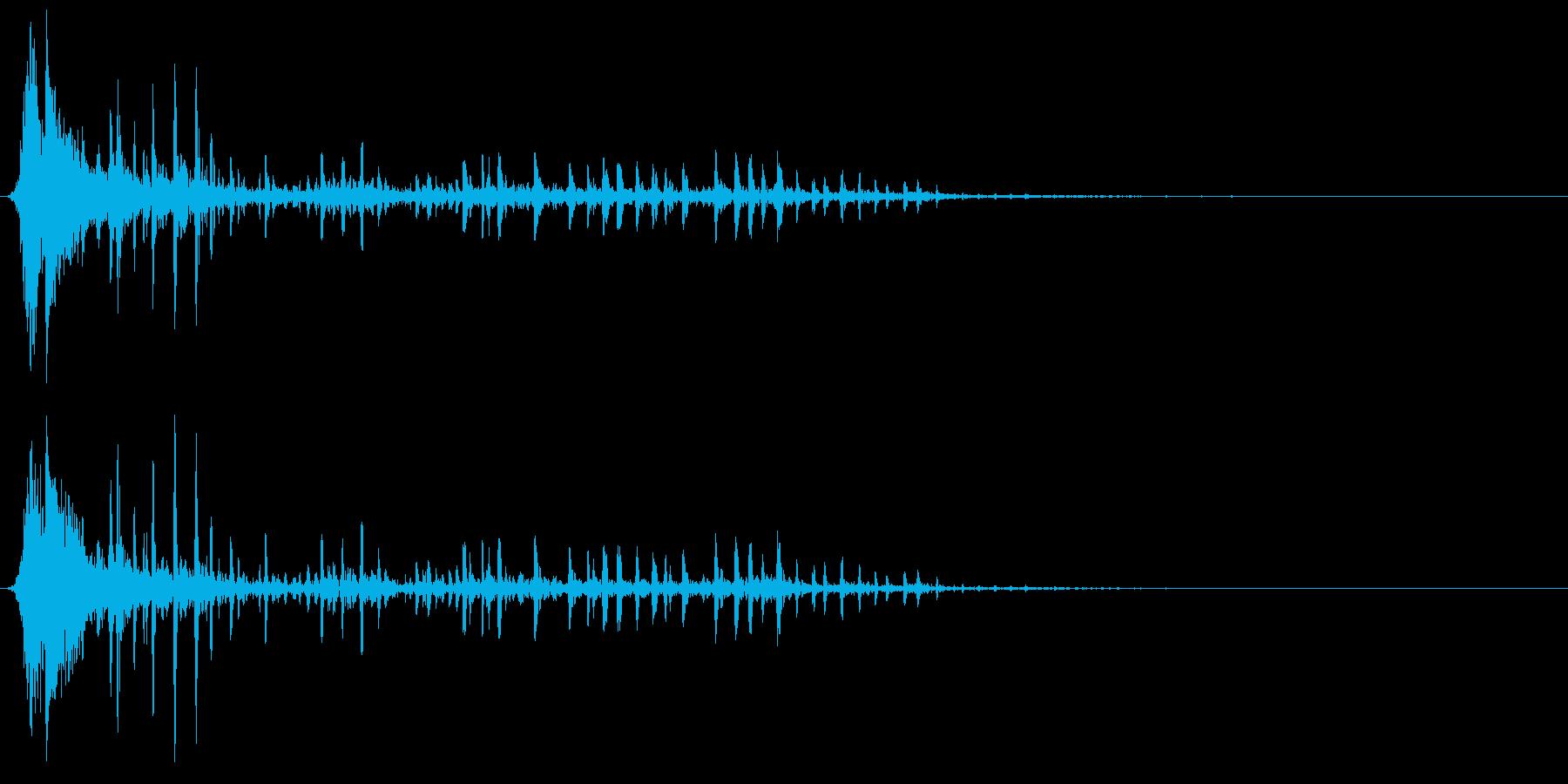 弓矢がターゲットに当たり、ぐらつくの再生済みの波形