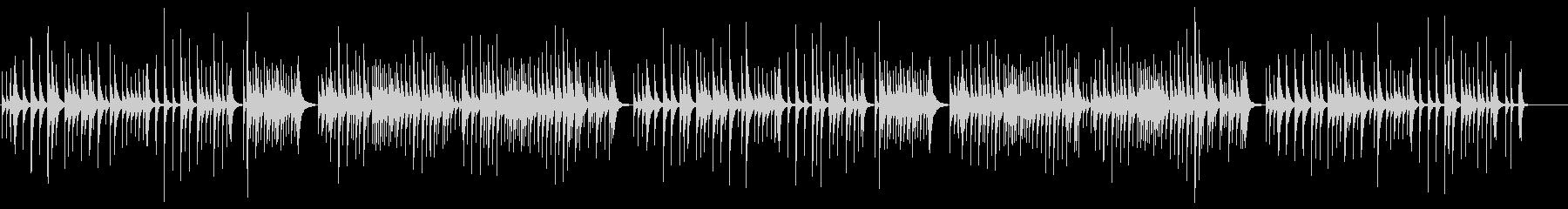 ゆったりとした和風オルゴールBGMの未再生の波形