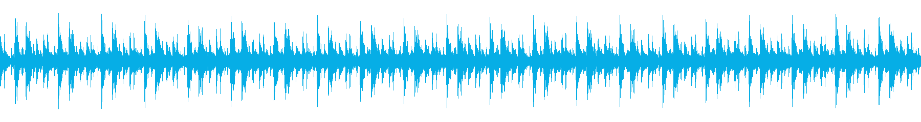 透明感のある電子音・シンプルなループの再生済みの波形