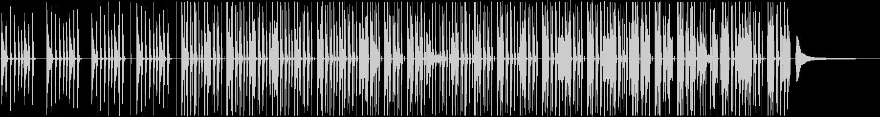 明るく軽快でシンプルなピアノポップスの未再生の波形