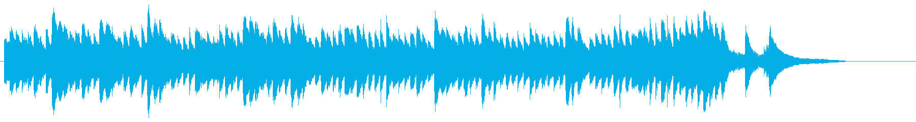 結婚式のBGM_ピアノの再生済みの波形