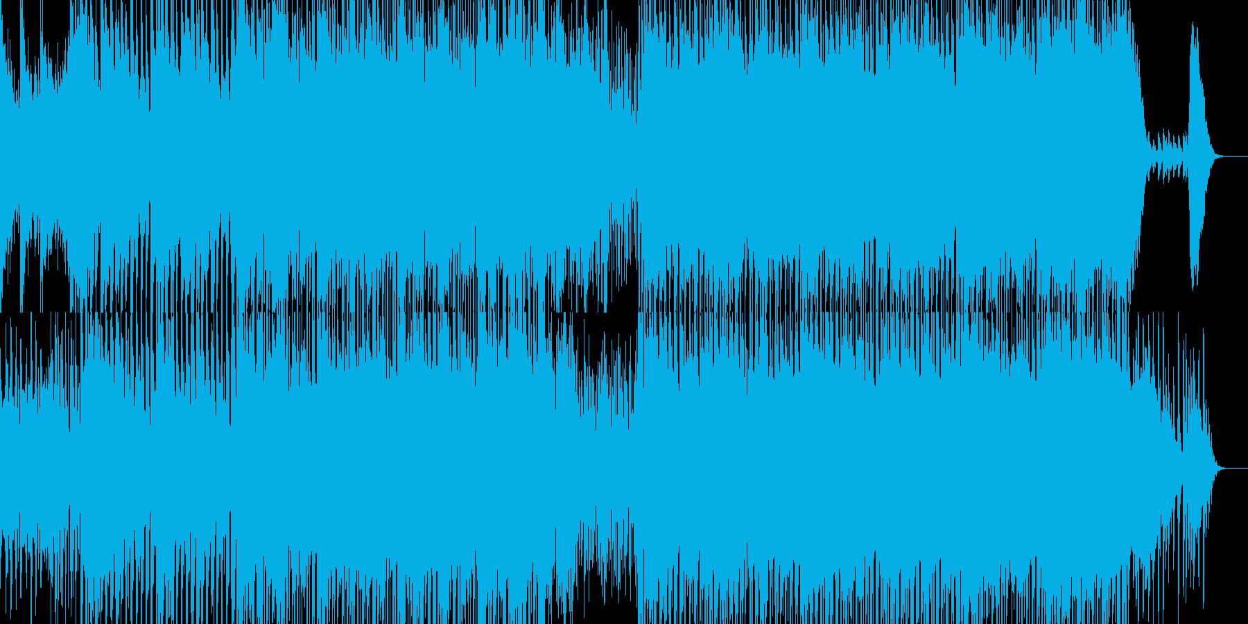 ストリングスによる哀愁感のあるメロディーの再生済みの波形
