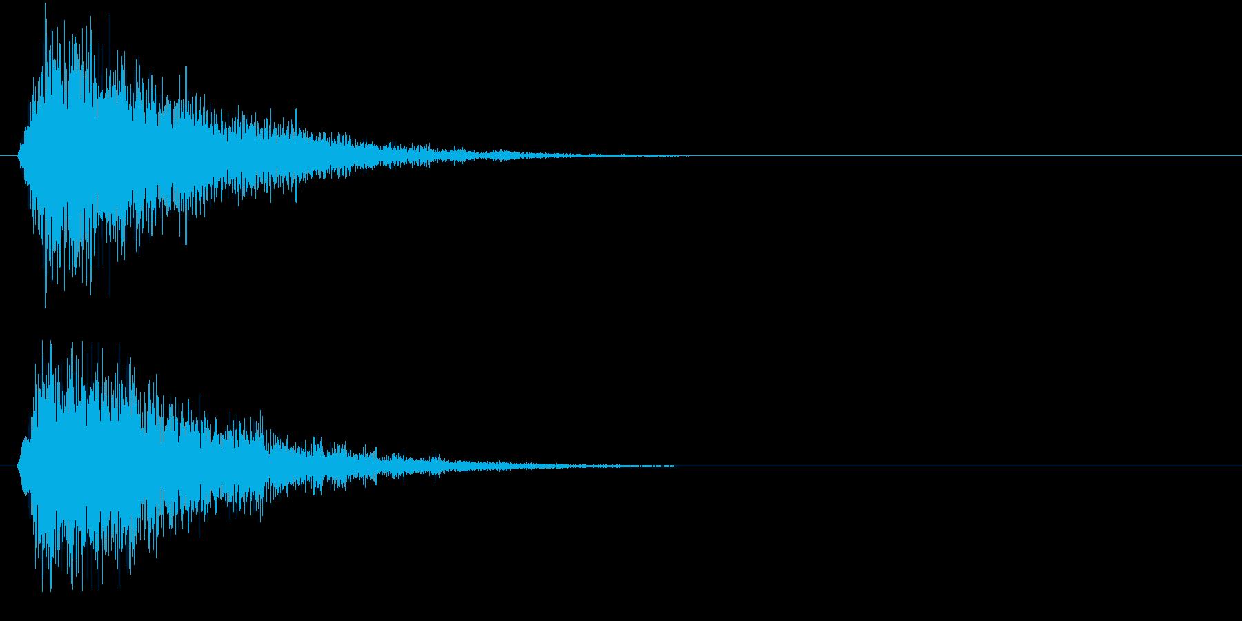 フォン②(決定音・システム音・魔法発動)の再生済みの波形