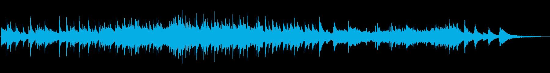 ヒーリング系のピアノソロ(柔らかい音色の再生済みの波形