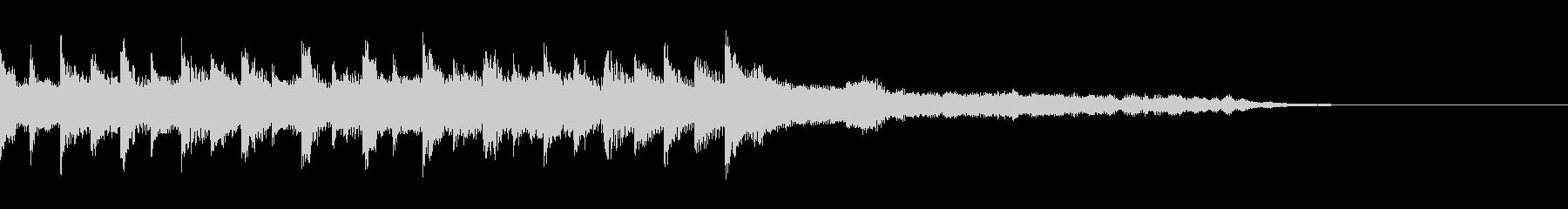 ベルのシンプルな曲・4小節の未再生の波形