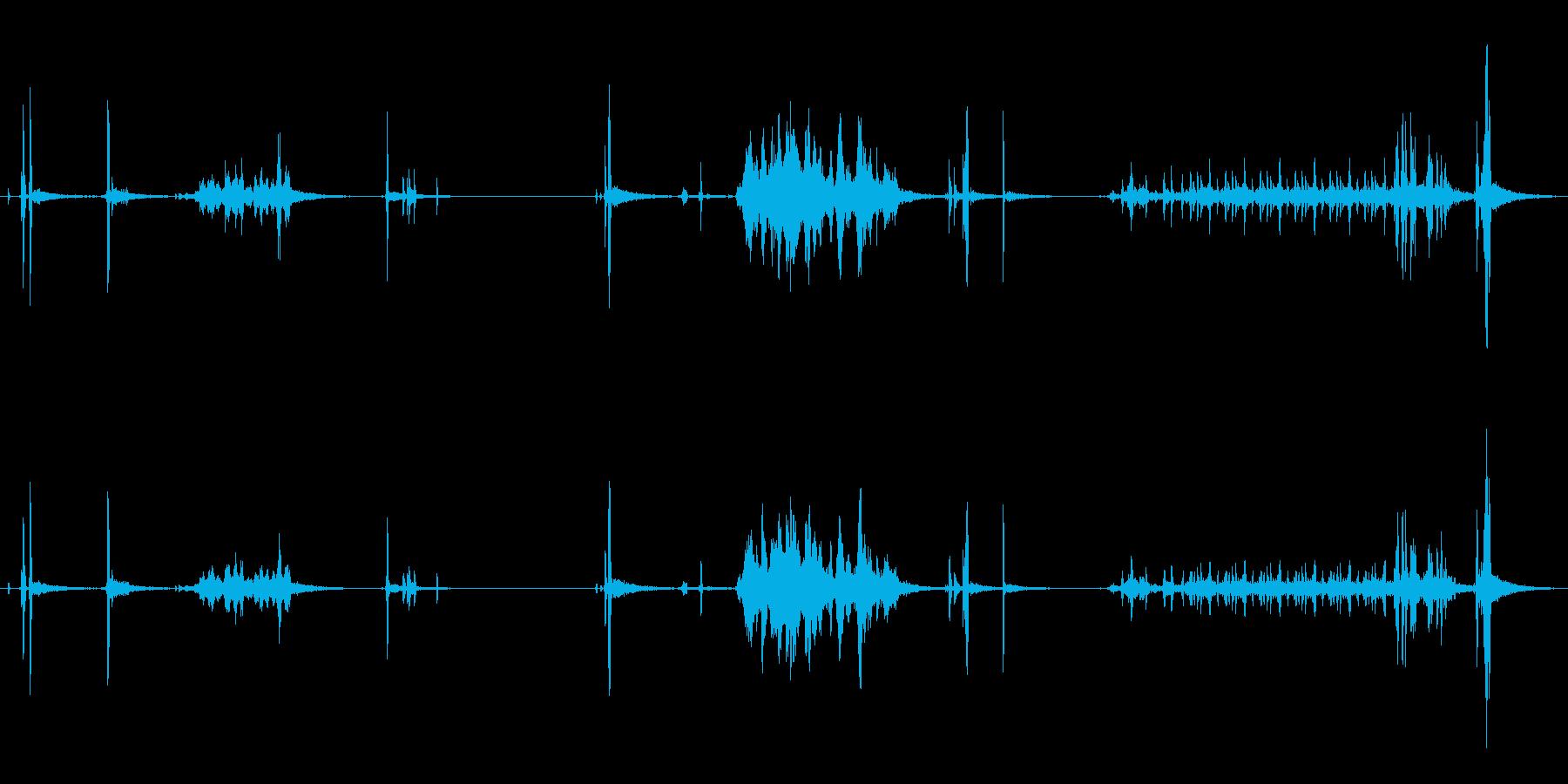 ペンシルシャープナー、マニュアル、...の再生済みの波形