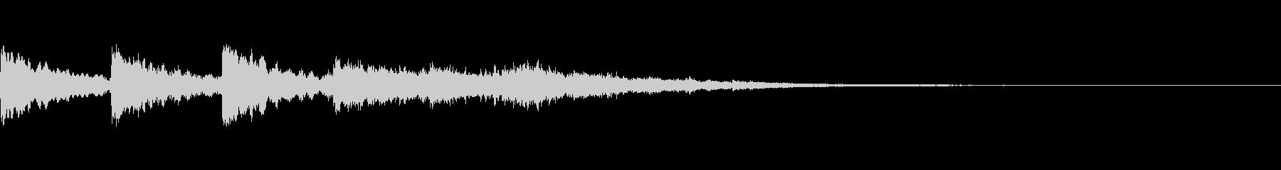 4連続テロップ表示音~0.7秒間隔~の未再生の波形