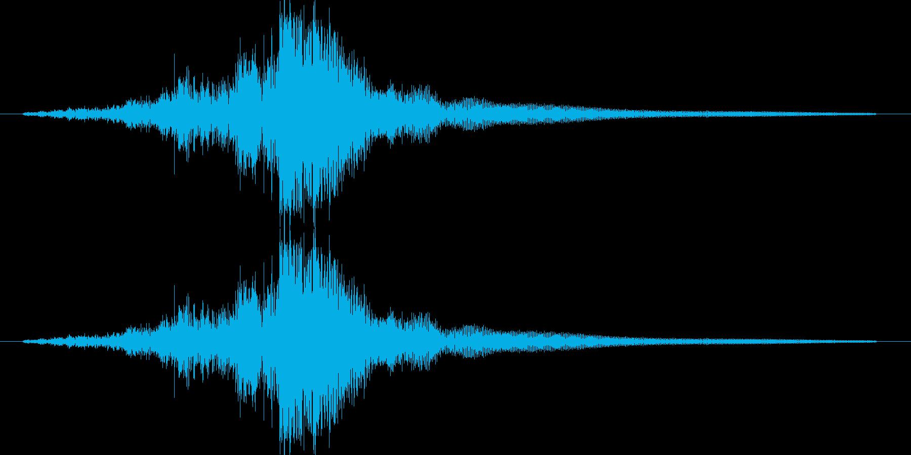 抜刀音の再生済みの波形
