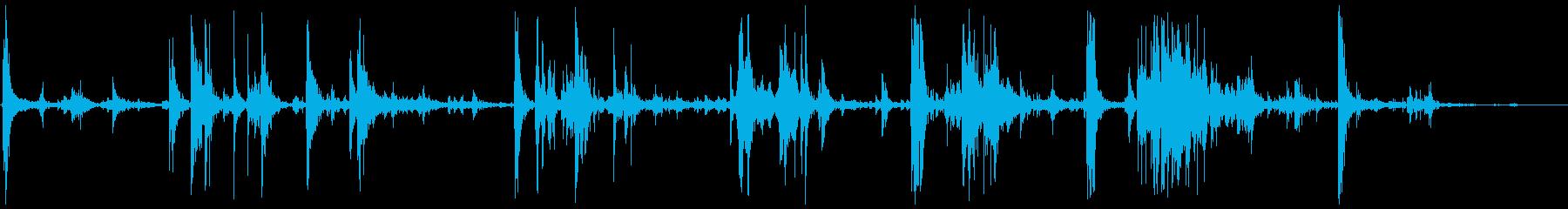 スモールウッドデブリスウッドヒットの再生済みの波形