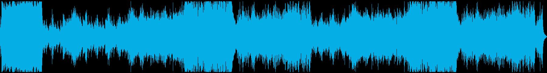 緊張感のあるオーケストラ風の再生済みの波形