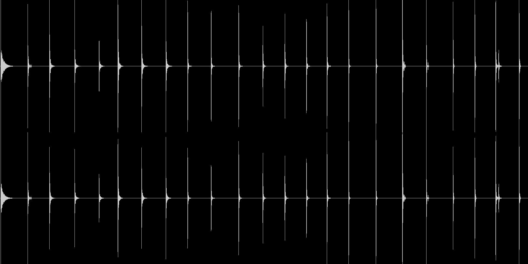 ハンマー、インパクト、ヒット、ウッ...の未再生の波形