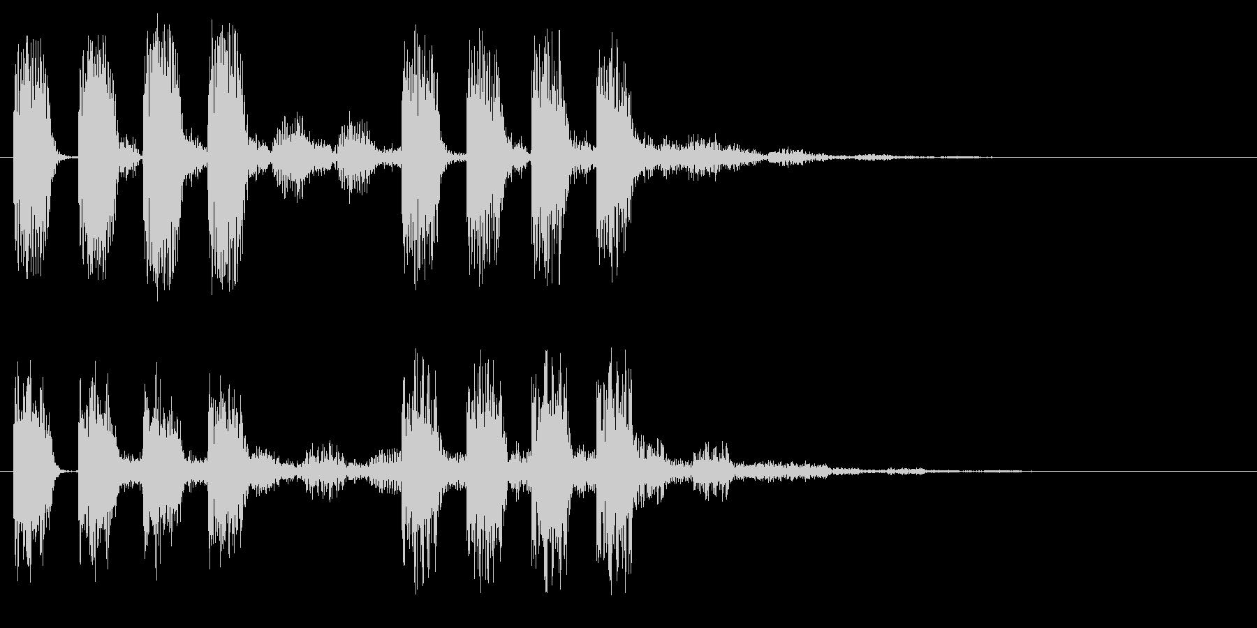 アラート 低音版 注意 危険 警戒 ミスの未再生の波形