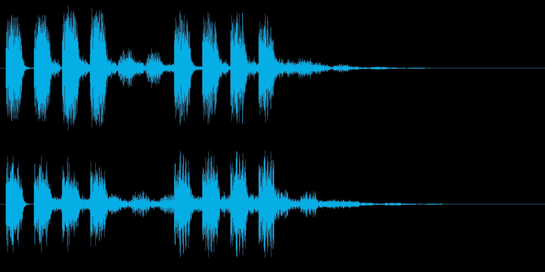 アラート 低音版 注意 危険 警戒 ミスの再生済みの波形