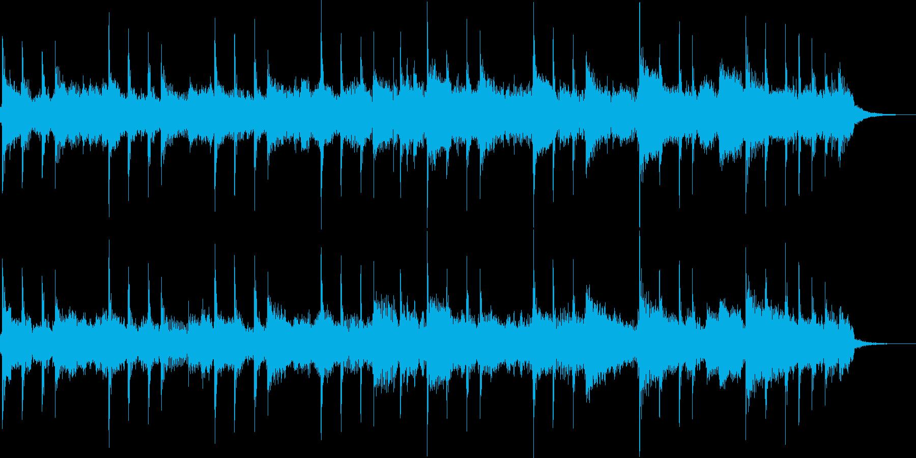 フレッシュな印象のジングルの再生済みの波形