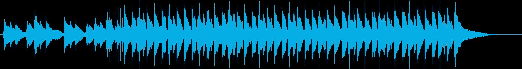 ピアノが光るゆったりさわやかなBGMの再生済みの波形