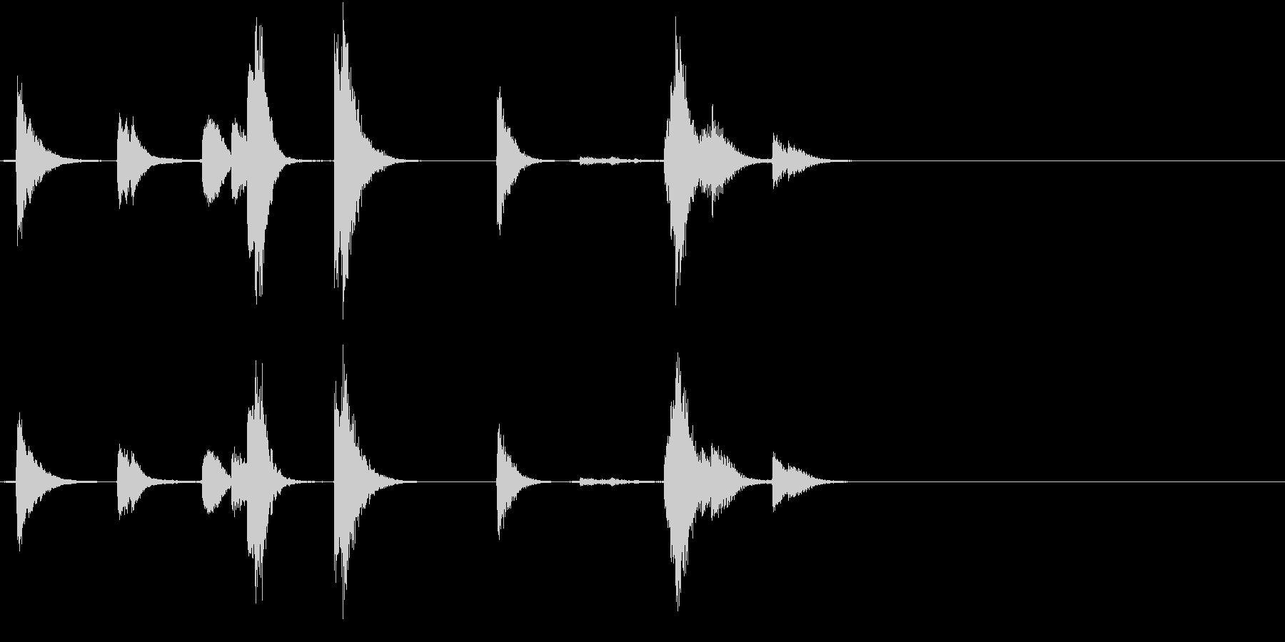 【生録音】TeaCup 食器の音 1の未再生の波形