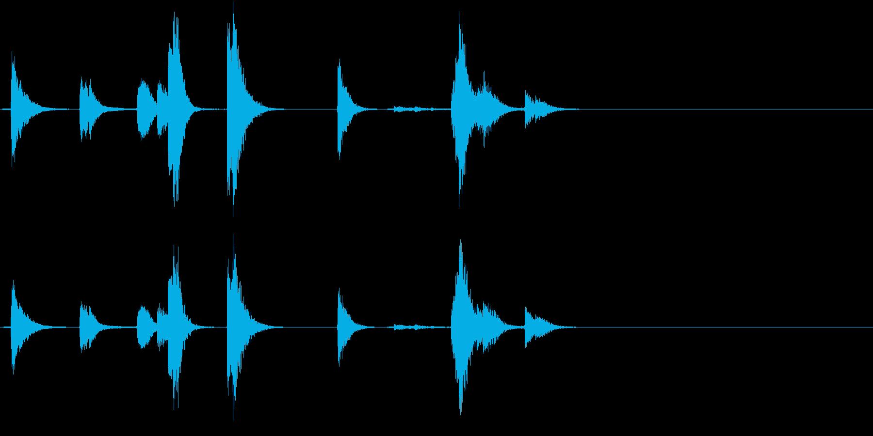 【生録音】TeaCup 食器の音 1の再生済みの波形