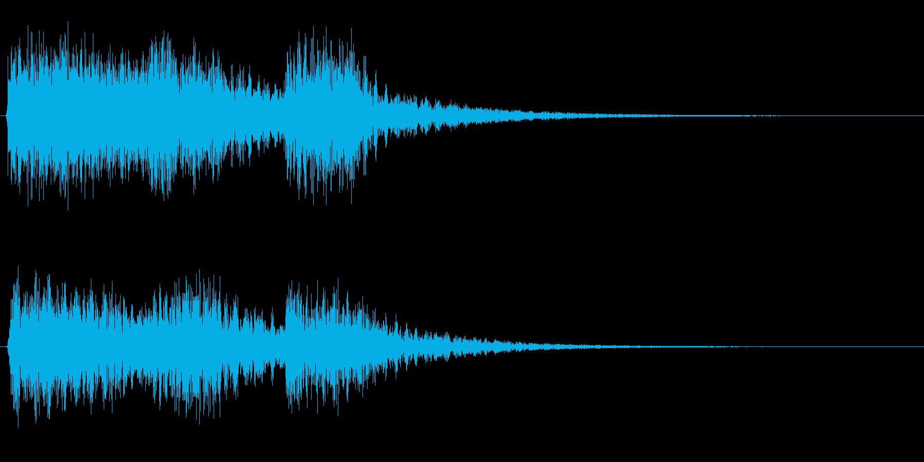 サスペンスドラマでCMに変わるときのメ…の再生済みの波形