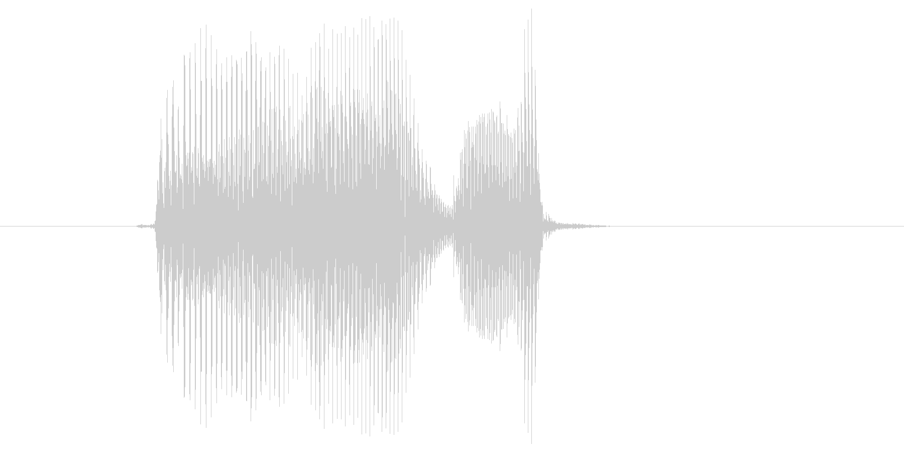 「おわり」の未再生の波形