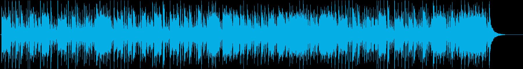 アップテンポで前向きな高音のポップな曲の再生済みの波形